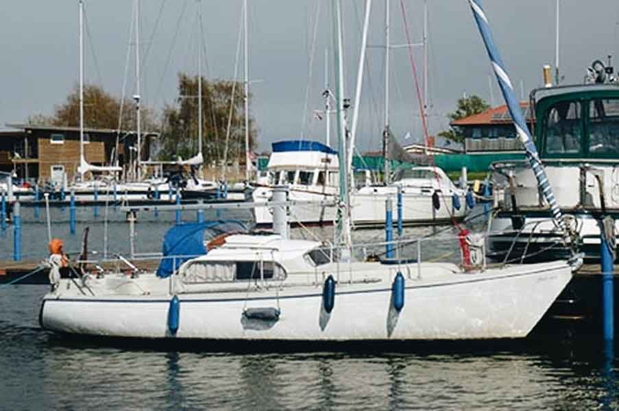 Dehler Optima 830 Steuerbord mit Genua