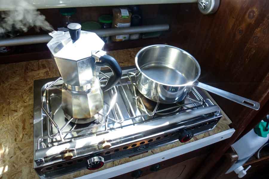Kaffeekochen auf dem Origo 3000