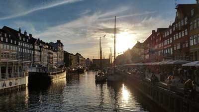 Blick in den Hafen Langelinie in Kopenhagen