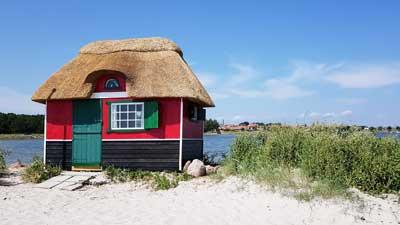 buntes Strandhaus in Marstal