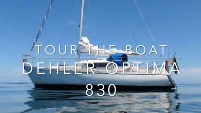 Tour The Boat - Dehler Optima 830 | HAFENKINO.blog