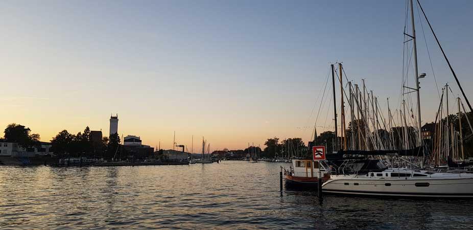 Abend im Hafen von Neustadt i. Holstein
